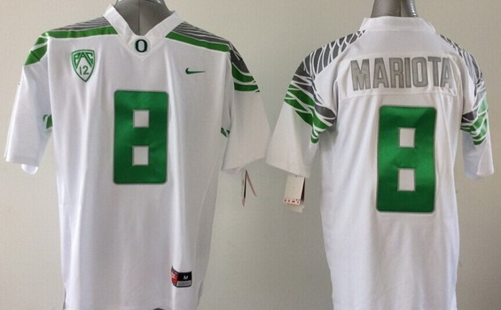 Oregon Duck #8 Marcus Mariota 2014 White Limited Jersey