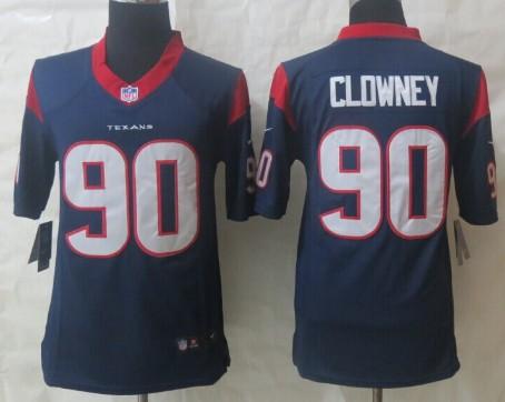 8e9d46930 Nike Houston Texans  90 Jadeveon Clowney White Limited Jersey on ...