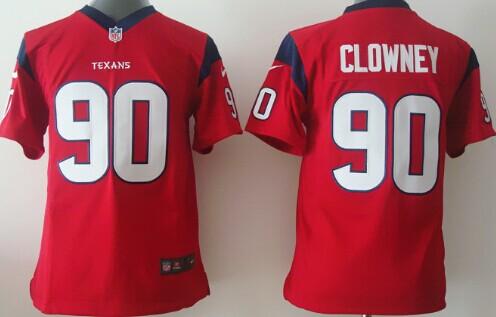aaa957432 ... Nike Houston Texans 90 Jadeveon Clowney Red Game Kids Jersey ...