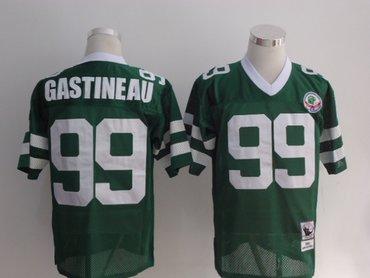 ... New York Jets 99 Mark Gastineau Green Throwback Jersey ... 1444075bc