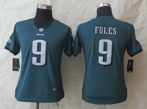 quality design f2932 b12c6 Nike Philadelphia Eagles #9 Nick Foles Dark Green Limited ...