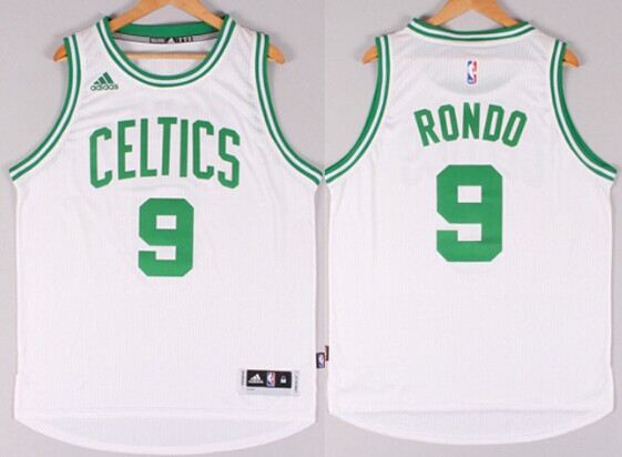 10263ca4e8a ... Boston Celtics 9 Rajon Rondo Revolution 30 Swingman 2014 New White  Jersey ...