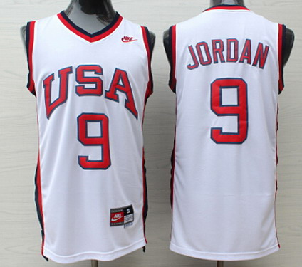 save off 1240e b28d2 1992 olympics team usa 9 michael jordan white swingman jersey