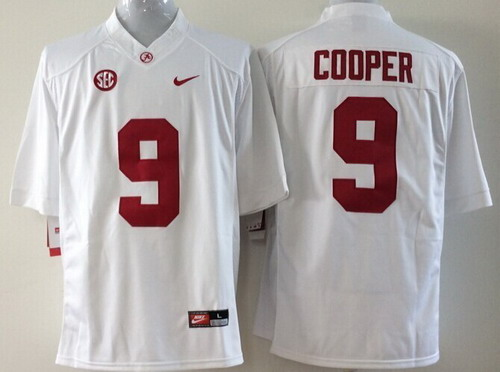Alabama Crimson Tide #9 Amari Cooper 2014 White Limited Kids Jersey