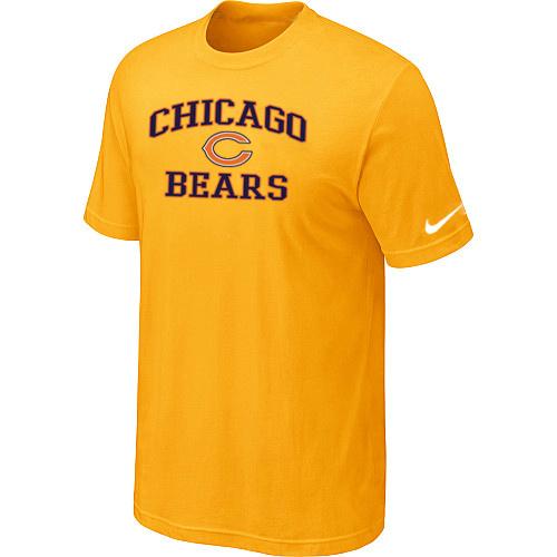 New chicago bears heart soul d.blue t shirt