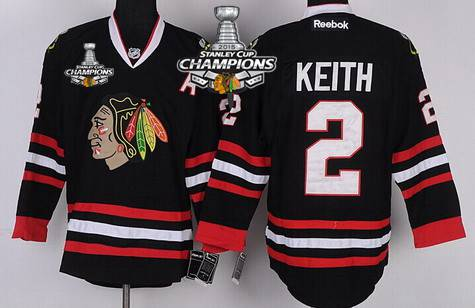 nhl jersey chicago blackhawks 2 duncan keith black kids jersey w2015 stanley cup champion patch