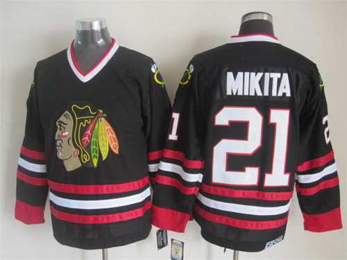 7508e841 ... order chicago blackhawks 21 stan mikita black ccm vintage throwback  jersey d5d72 95136