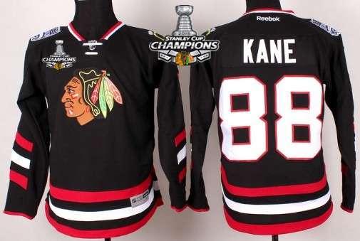 2 duncan keith 2015 stanley cup 2014 stadium series black jersey chicago blackhawks 88 patrick kane