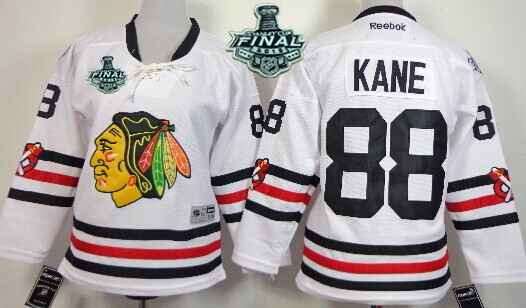 f5006c966 ... Youth Chicago Blackhawks 88 Patrick Kane 2015 Stanley Cup 2015 Winter  Classic White Jersey .