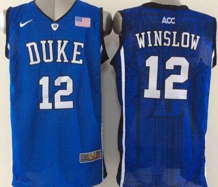 d388fef6c39 Jersey Duke Blue Devils 3 Grayson Allen Blue With Portrait Print College  Basketball Duke Blue Devils 12 Justise Winslow Blue Jersey ...