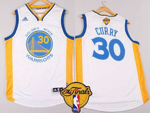 24d7d4915 ... Blue Throwback 2015 The Finals Patch Authentic Jersey - Stephen Curry  Golden State Warriors 30 Stephen Curry 2015 The Finals New White Jersey ...