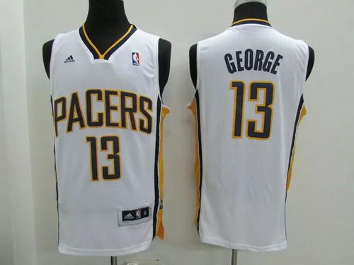2fa706b3193 ... Indiana Pacers 13 Paul George Revolution 30 Swingman White Jersey ...