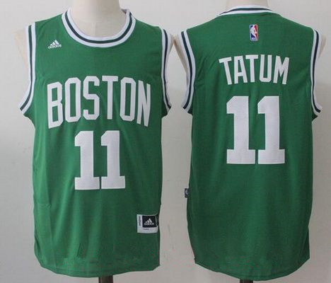 66c872fee89 ... Mens 2017 Draft Boston Celtics 11 Jayson Tatum Green Stitched NBA adidas  Revolution 30 Swingman Jersey ...