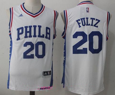 f9084b54 ... Mens 2017 Draft Philadelphia 76ers 20 Markelle Fultz White Stitched NBA  adidas Revolution 30 Swingman ...