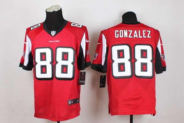 ... Mens Atlanta Falcons 88 Tony Gonzalez Nike Red Elite Jersey ... 428149e22