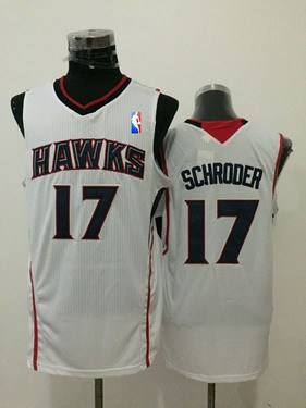 ... 2016-2017 Mens Atlanta Hawks 17 Dennis Schroder White Swingman Jersey  ... 4f2ca2789