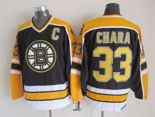Men's Boston Bruins #33 Zdeno Chara 1996-97 Black CCM Vintage Throwback Jersey