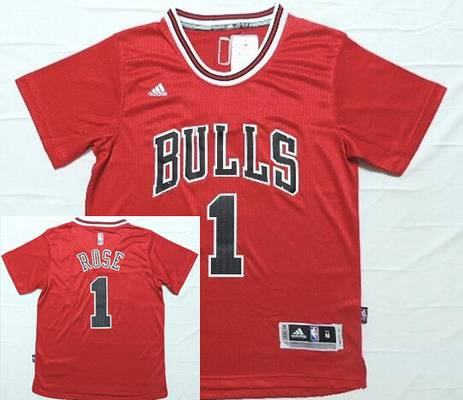 7960b15b1 ... Jerseys Mens Chicago Bulls 1 Derrick Rose Revolution 30 Swingman 2014  New Red Short-Sleeved ...