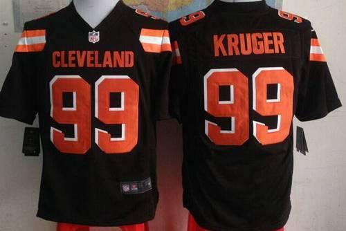 Pro Line Men's Cleveland Browns Paul Kruger Team Color Jersey