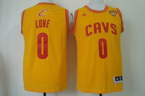 ... Throwback Classic NBA Jersey Mens Cleveland Cavaliers 0 Kevin Love 2015  The Finals Yellow Jersey ... 224847fb0