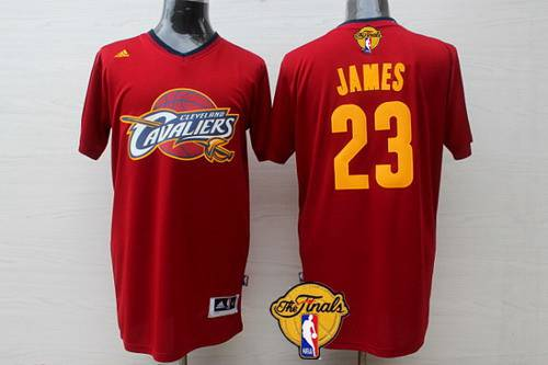 afcba6063 ... Mens Cleveland Cavaliers 23 LeBron James 2015 The Finals New Red  Short-Sleeved Jersey Swingman Kyrie Irving ...