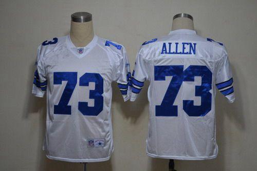 Men's Dallas Cowboys #73 Larry Allen White Legend Jersey