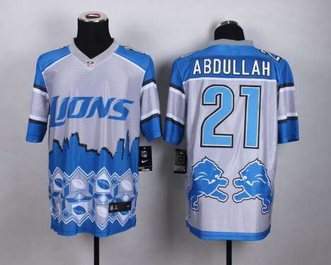 Men's Detroit Lions #21 Ameer Abdullah 2015 Nike Noble Fashion Elite Jersey