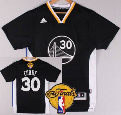5a8c91b5 ... Jersey Mens Golden State Warriors 30 Stephen Curry 2015 The Finals New  Black Short-Sleeved ...