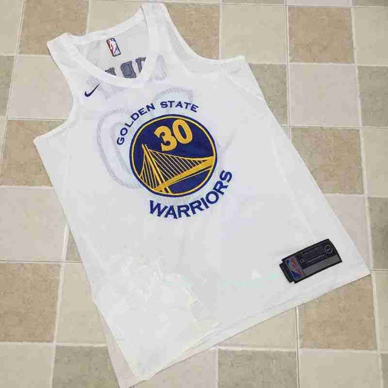 Men's Golden State Warriors #30 Stephen Curry White 2017-2018 Nike Swingman Stitched NBA Jersey