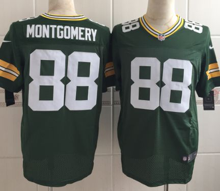 db6b7272293 ... cheapest nfl jersey mens green bay packers 88 ty montgomery nike green  elite jersey packers 370463 ...