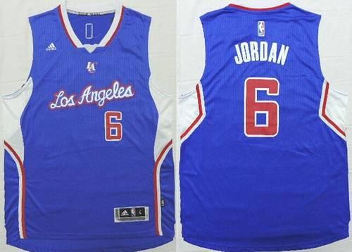 8ac43f4a8 ... Black With Gold Jersey Mens Los Angeles Clippers 6 DeAndre Jordan  Revolution 30 Swingman 2014 New Blue Jersey ...