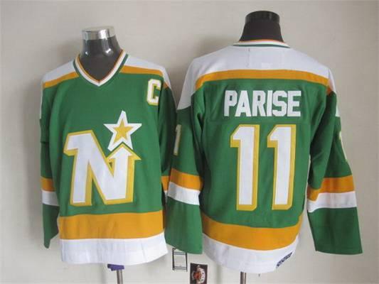 Men's Minnesota North Stars #11 Zach Parise 1978-79 Green CCM Vintage Throwback Jersey
