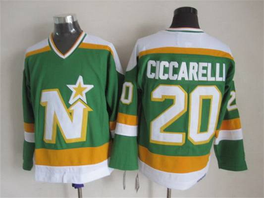 Men's Minnesota North Stars #20 Dino Ciccarelli 1978-79 Green CCM Vintage Throwback Jersey