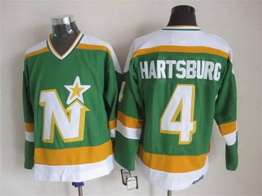 Men's Minnesota North Stars #4 Craig Hartsburg 1978-79 Green CCM Vintage Throwback Jersey
