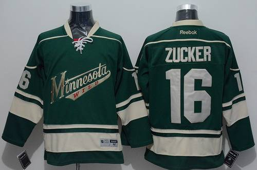 ... NHL 16 Minnesota Wild Mens Minnesota Wild 16 Jason Zucker Green Third  Jersey Youth Jason Zucker Authentic Green Adidas ... d01d80941