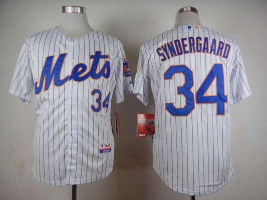 mens new york mets 34 noah syndergaard white pinstripe jersey