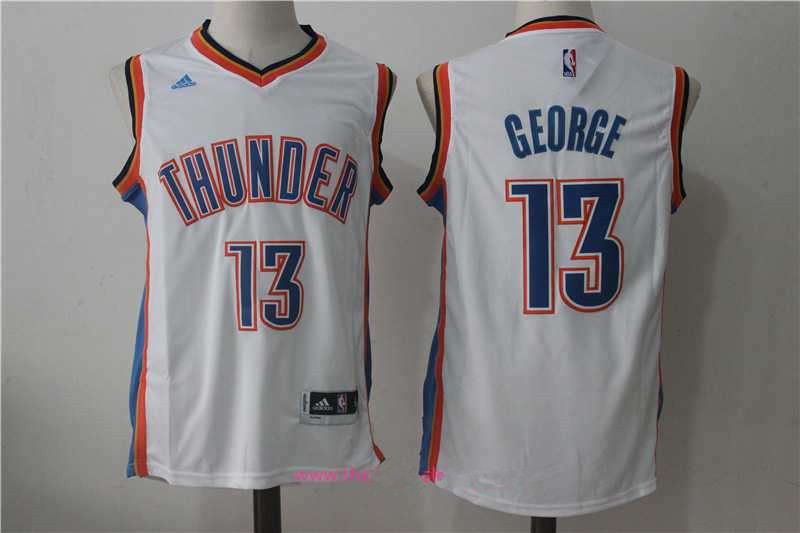 top quality mens oklahoma city thunder 13 paul george white stitched nba  adidas revolution 30 swingman 32a96383f