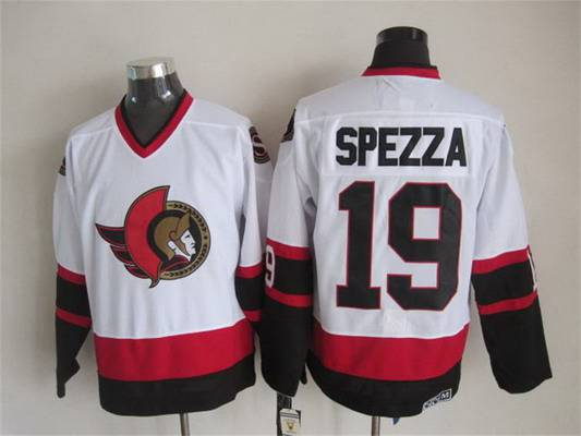 Men's Ottawa Senators #19 Jason Spezza 1997-98 White CCM Vintage Throwback Jersey