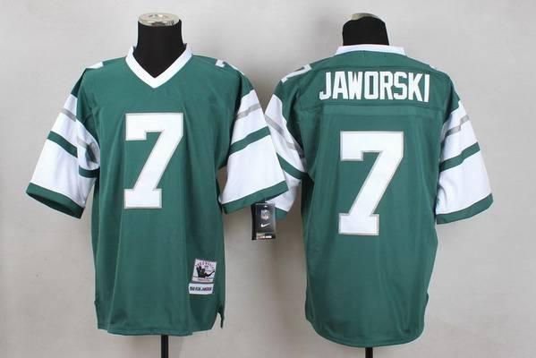 Men's Philadelphia Eagles #7 Ron Jaworski Light Green Throwback Jersey