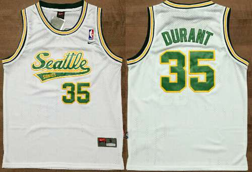 ede81506cb3 ... Throwback Soul Yellow Jersey Mens Seattle Supersonics 35 Kevin Durant  White AU Soul Swingman Jersey Adidas NBA ...