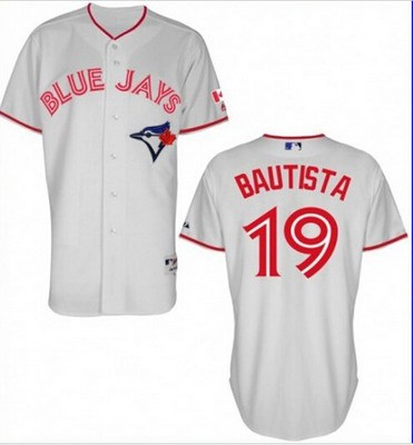 mens toronto blue jays 19 jose bautista 2015 canada day white jersey