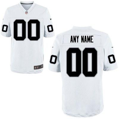 Men's Oakland Raiders Nike White Discount Customized Elite Jersey