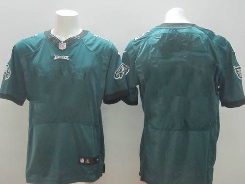 Men's Philadelphia Eagles Nike Black Custom Elite Jersey
