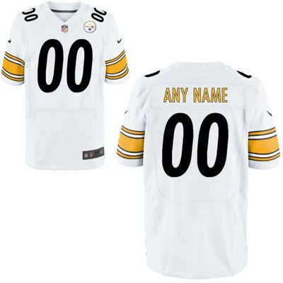 Men's Pittsburgh Steelers Nike White Customized 2014 Elite Jersey