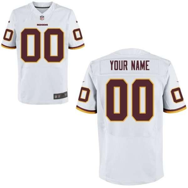 Men's Washington Redskins Nike White Customized 2014 Elite Jersey