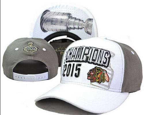 NHL Chicago Blackhawks 2015 Stanley Cup Champions Clean-Up Adjustable Hat LH23