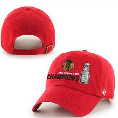 f149a0522a8 ... inexpensive nhl chicago blackhawks 47 brand red 2015 stanley cup  champions clean up adjustable hat 6cfa7 cheap mens ...