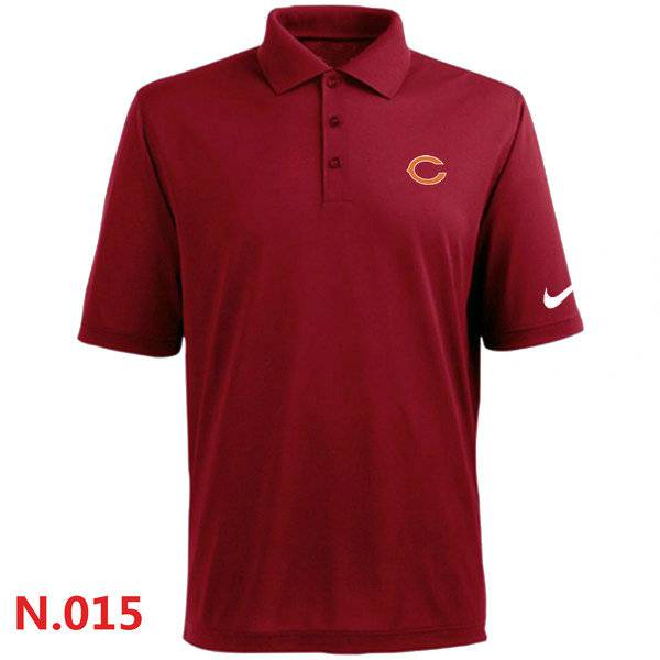 Nike chicago bears 2014 players performance polo red on for Cheap t shirt printing chicago