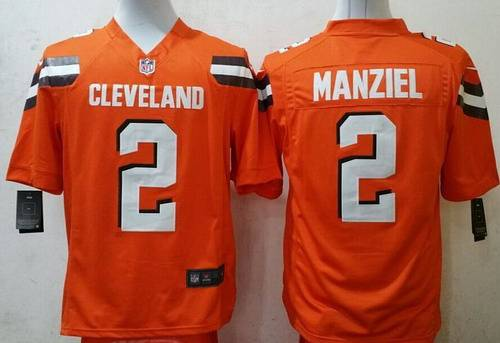 8e459f2db07 Nike Cleveland Browns 2 Johnny Manziel 2015 Orange Game Jersey ...
