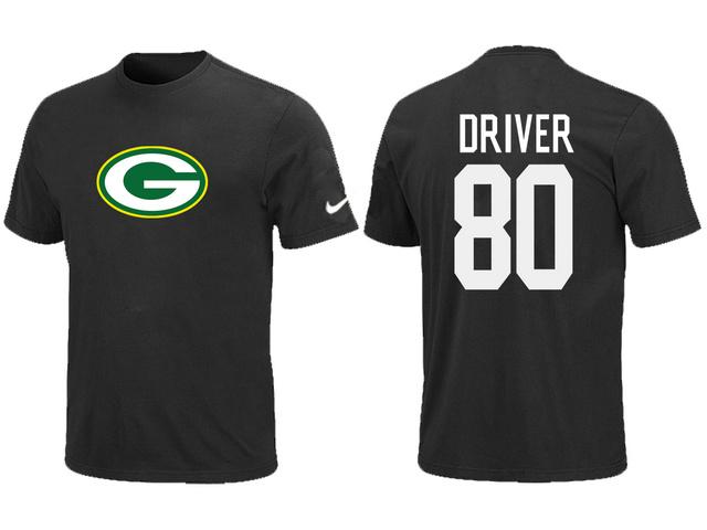 674f168edcd ... Nike Green Bay Packers Donald Driver Name Number T-Shirt Green Black ...